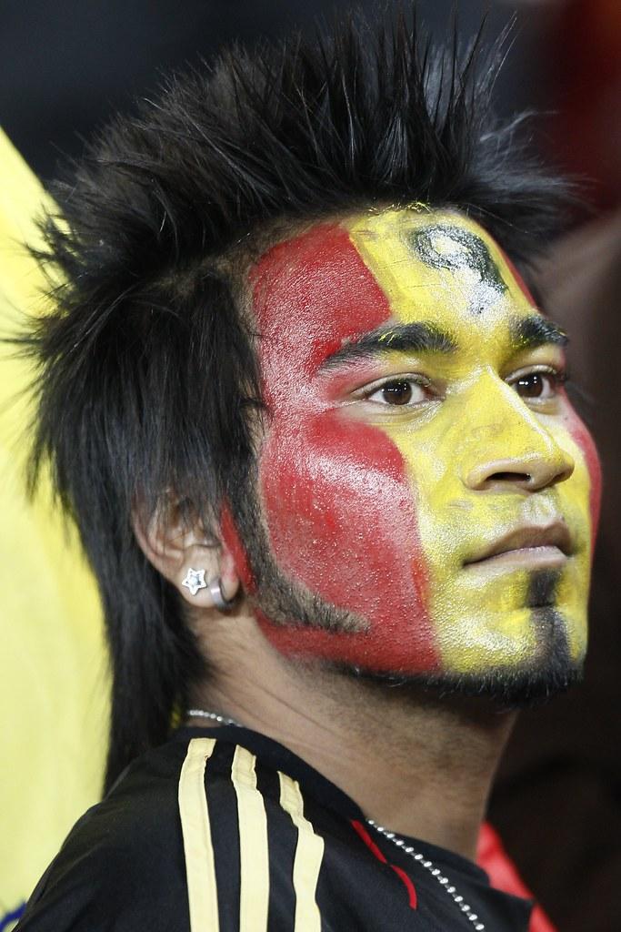Hincha cara pintada Mundial Sudáfrica España