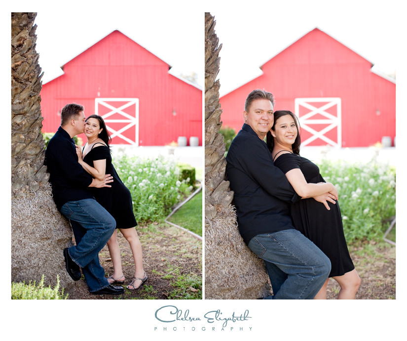 red barn husband and wife and expecting belly