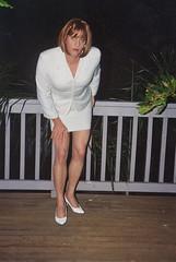 Suit 1c (Melissa451) Tags: cd melissa crossdresser whitesuit skirtsuit