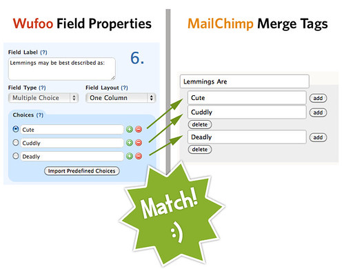 Successful MailChimp Wufoo Field Matching