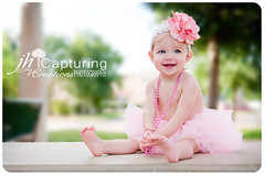 Flowers, Pearls, and Tutus-18 (JHCC Photography) Tags: outdoor pinktutu flowerheadband beadsbabychildrenchildphotographyjhcapturingcreationsphotography