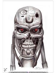 Terminator hecho con Acuarelas y Lápices de Colores Prismacolor (Juan Camilo Bedoya Vargas) Tags: color illustration pen pencil watercolor robot colores draw terminator dibujo cyber ilustración acuarelas skynet cybor camilobedoya juancamilobedoya