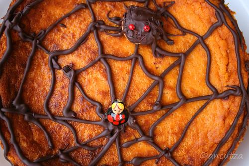 Cheesecake ragno alla zucca per halloween