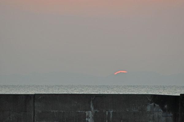 佐渡へ沈む夕日~笹川流れ