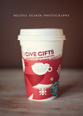 .red cup day. (polkadotandplaid) Tags: christmas red holiday coffee starbucks redcups starbucksredcups