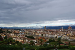 Florence under stormy skies