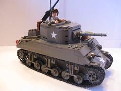 "Sherman M4A1(75) ""In the Mood"" 3rd Platoon, I Company, 32nd Armored Regiment, 3rd Armored Division (""Rumrunner"") Tags: tank lego wwii american ww2 armour worldwar2 allies m4a1"