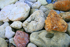 The Support (mind the goat) Tags: orange beach rock stone sandstone stones pebble shore limestone quartz errosion