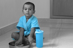 Selective Coloring - Shaam 2 (Raksh1tha) Tags: blue kids experimental gimp coloring chennai shaam selective