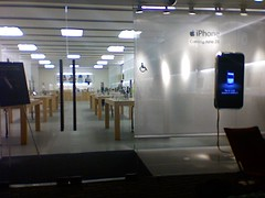 Apple Store on the night before the iPhone launch