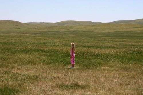 Little girl on the prairie