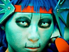 'Cosplay' means 'costume play' (manganite) Tags: blue red portrait people cold color cute topf25 face fashion japan digital dark hair geotagged asian japanese tokyo costume interestingness clothing cool topf50 nikon topf75 colorful asia cosplay tl turquoise young makeup teens posing style guys explore harajuku fancy teenager  nippon  d200 nikkor dslr bodyparts toned topf100 nihon kanto stylish greenish  blueribbonwinner interestingness3 fav100 i500 outstandingshots 18200mmf3556 utatafeature manganite nikonstunninggallery ipernity challengeyou challengeyouwinner geo:lat=35669755 geo:lon=139702425 date:year=2006 date:month=september date:day=17 format:ratio=43