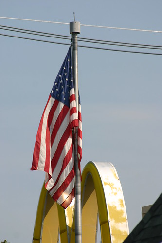 McDonald's M and the American Flag