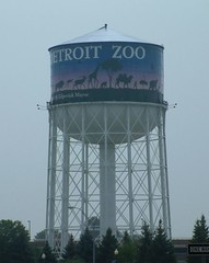 Detroit Zoo Watertower (DetroitDerek Photography ( ALL RIGHTS RESERVED )) Tags: summer favorite usa tower water animals sign fun zoo high fuji view purple angle image michigan postcard name watertower detroit scenic billboard signage tall woodward title kwame royaloak detroitzoo 1924 1883 696 amatuers