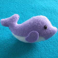 dolphin (Eskimimi) Tags: uk toy monkey stuffed dolphin felt mimi beaver fabric cuddly plushie octopus giraffe etsy pocketpets eskimimi