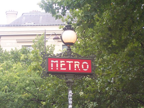 Art Deco Paris Metro sign