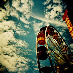 all the fun of holga (microabi) Tags: california sky clouds la pier holga catchycolours santamonica fairgroundride diamondclassphotographer allthefunofholga