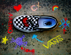 [I <3 My VANS] (✧S) Tags: colors cherry skull star chalk rainbow shoes colorful o ground x vans ck loveyou cherrykisses everrrr koooolest chexcherries3 lovvvveumoore artsyfartsyfeet