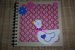 Caderno Decorado (linhasebolinhos) Tags: flowers flores notebook duck origami crafts felt goose pato feltro caderno ganso patinho