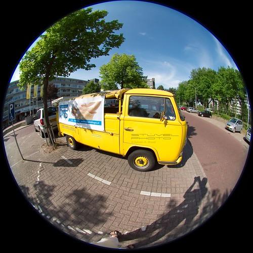 Yellow Volkswagen van
