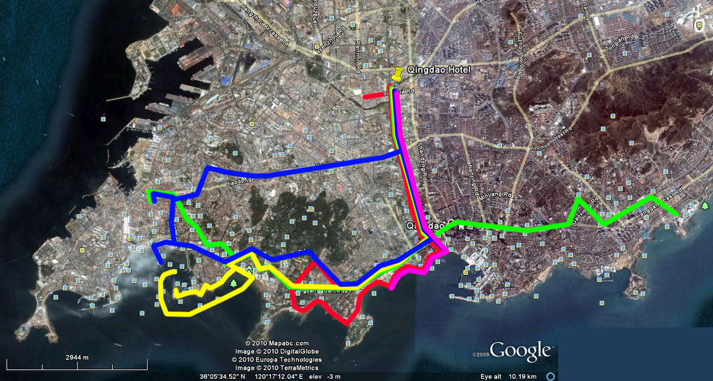 Qingdao Holiday Map - Combined