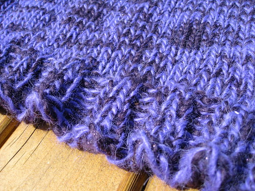 Purple sweater detail