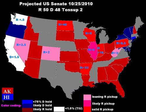 US Senate Projection 10252010