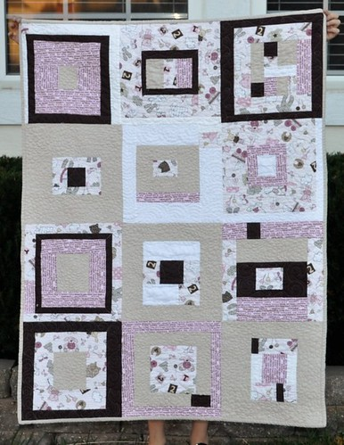 charity quilt lavender and brown