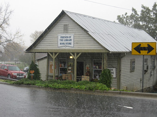 Friends of the Library Used Book Store in Hayesville by Lesley Looper