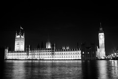 The Palace of Westminster. Different view (Folaju) Tags: blackandwhite bw london night cityscape thepalaceofwestminster