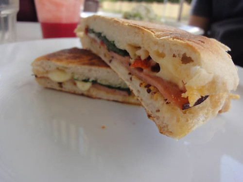 Sideways Deli Cafe: Gypsy Ham panino - bocconcini, semi-dried tomatoes, baby spinach and seeded mustard