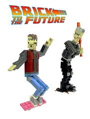 Brick to the Future! (Ochre Jelly) Tags: back lego bttf future biff scifi timetravel 1985 marty griff backtothefuture mcfly hoverboard tannen moc afol 2015 deloran zemekis