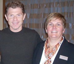 Bobby Flay and Wendy Webster (Store Manager of Hunt Valley Wegmans) (Wegmans) Tags: booksigning bobbyflay huntvalleywegmans