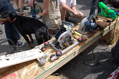 Seattle Power Tool Races (seattlicious) Tags: seattle jacqueline georgetown races divide powertool hazardfactory hackerbot powertoolraces seattlicious