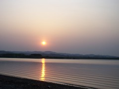 Sunset on Lake Abashiri