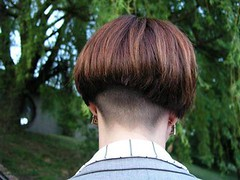 M-shaped hairline 1 (hairxstatic) Tags: shorthair bobbedhair clipperednape invertedbobs buzzednape