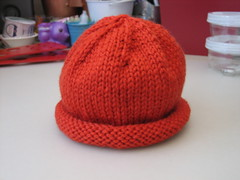 Orange kids hat for Afghans for Afghans