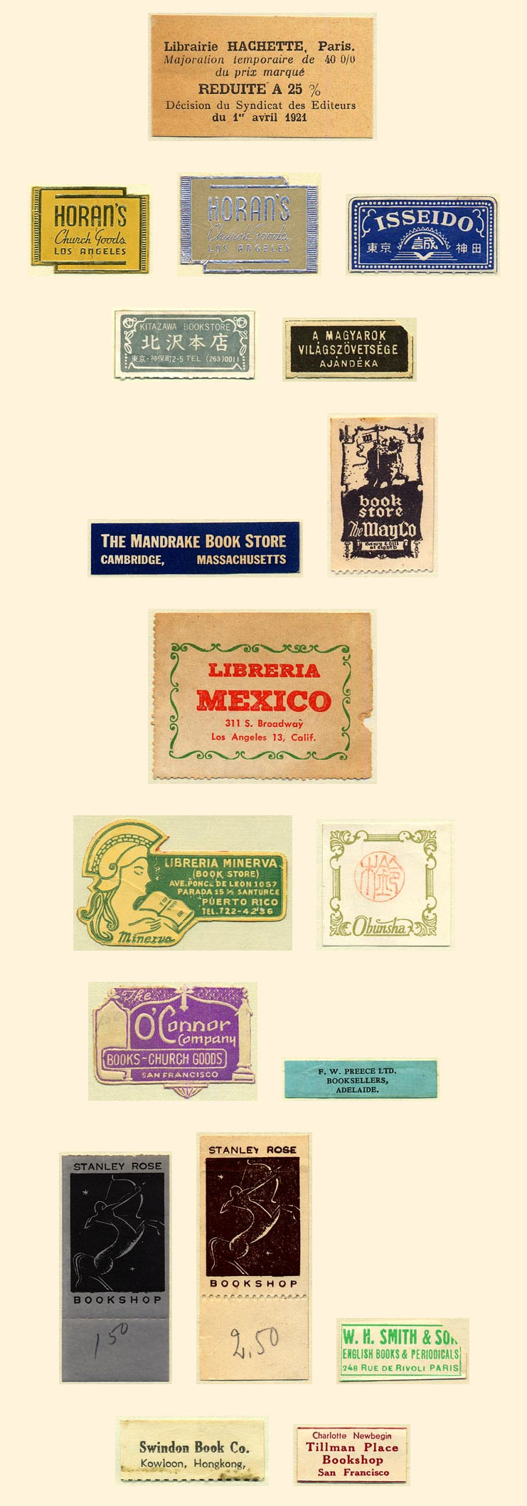 Gallery of Book Trade Labels