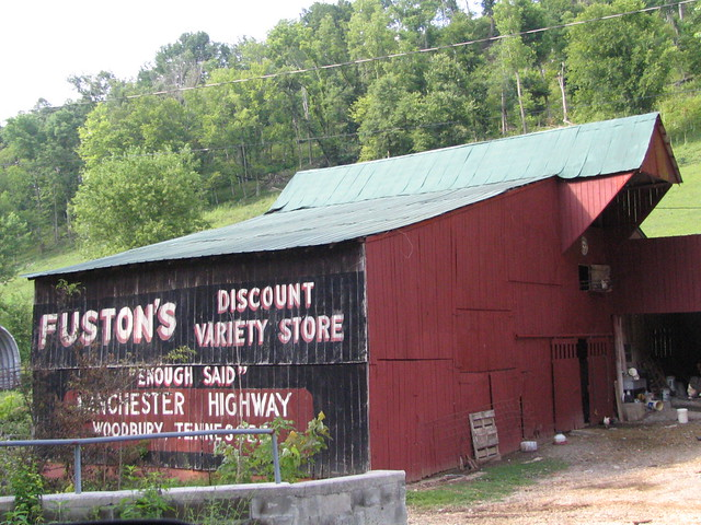 Fuston's Discount Variety Store barn