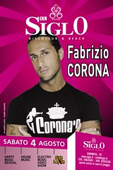 Flyer SIGLO sabato 4 agosto 2007 (puntogii) Tags: corona fabrizio siglo