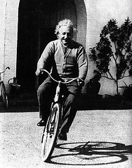 Albert on a bike