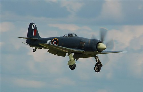 Warbird picture - Hawker Sea Fury landing