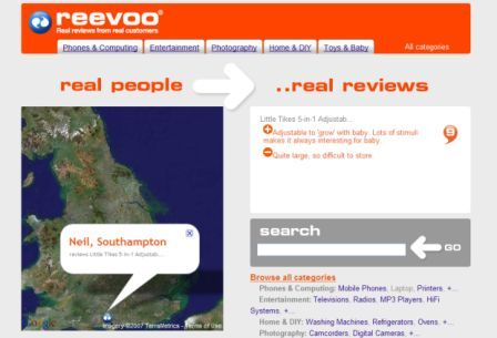 Old Reevoo homepage