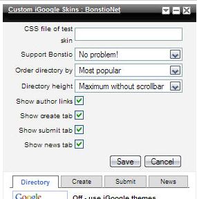 Custom iGoogle Skins