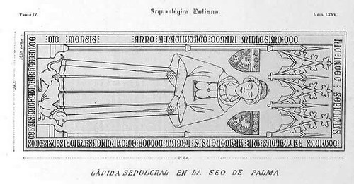 L�pida en la Catedral de Palma