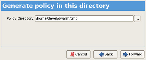 generate policy in this directory screenshot