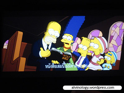 Simpsons with thai subtitles