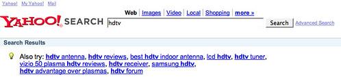 HDTV Refinement on Yahoo