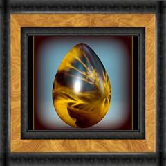 IMGP0753 golden egg framed (littlefeather100 / Off) Tags: fdsflickrtoys border egg frame vignette picnik bighugelabs