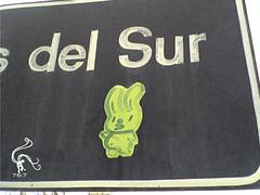 green conejo (zeth 767) Tags: streetart stencil sticker marker intervencion streeter ultranativa zeth767